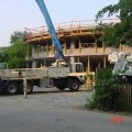 """<p><strong><span style=""""font-family: Times New Roman; font-size: small;"""">Concrete  Pump getting ready to place Concrete on Radius Structural Slab</span> <br /></strong></p>"""
